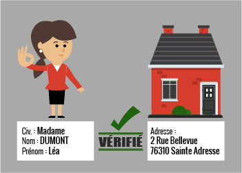 validation nomintaive de l'adresse postale